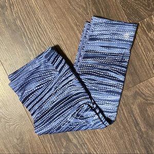 Athleta Blue Printed Cropped Leggings